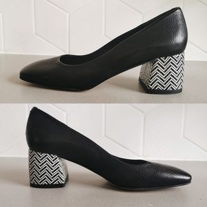 Made in Spain Leather Zinda Block Heeled Shoes